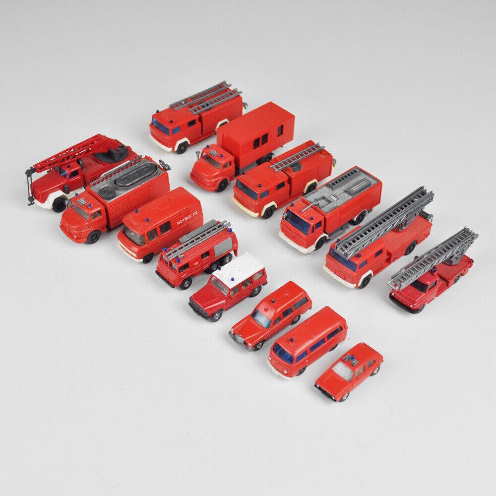 Wiking set-Fire-truck-ladder swivel crane-h0 - 1 87