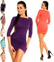 Zeta Ville - Women's Micro Minidress Tunic Top 3/4  Sleeves UK Size 8-20 - 995z