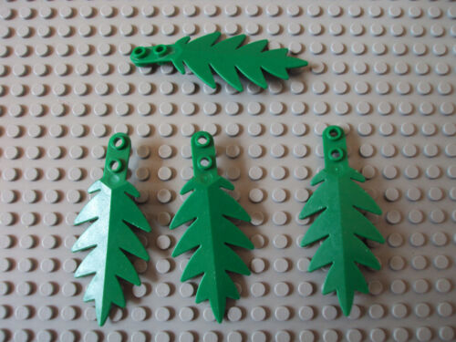 Lego Minifig ~ Lot of 4 Small Palm Tree Leaf//Leaves