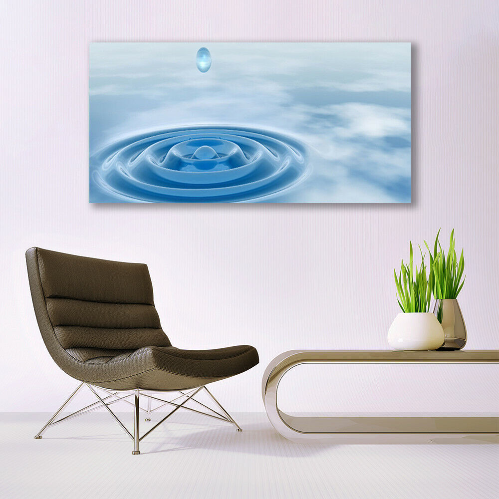 Glass Glass Glass print Wall art 140x70 Image Picture Water Art f81a46