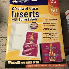 Memorex Print Your Own Cd Jewel Case Inserts With Spine Labels Unopened 2550