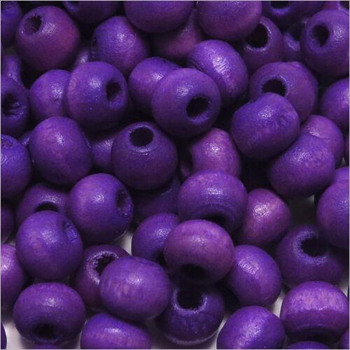 Lot de 100 Perles en Bois 6mm plusieurs couleurs au choix
