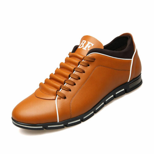 Men/'s Running Sports Leather Shoes Fashion Breathable Athletic Sneakers Casual