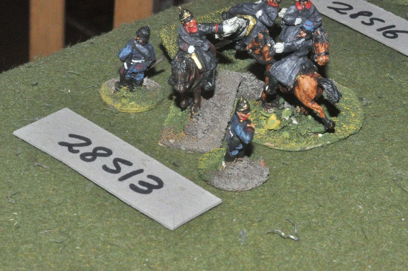 20mm 19th century   prussian - officers 6 figures - command (28513)