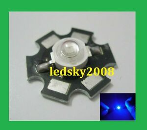 10PCS 1W Royal Blue High Power LED 440-450NM  Emitter with 20mm star