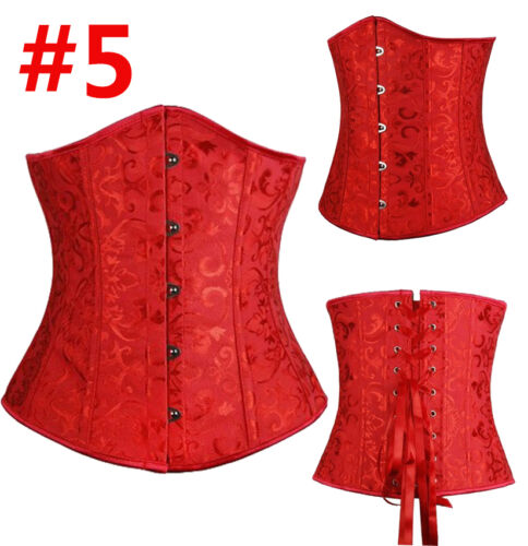 Women Boned Corset Waist Training Corsets Lace up Bustier top Slimming Underbust