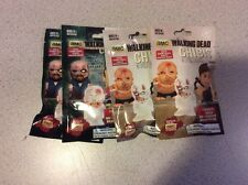 4 Pack Lot The Walking Dead Chibis Figures Blind Bags 3 Per Pack Series 1 & 2