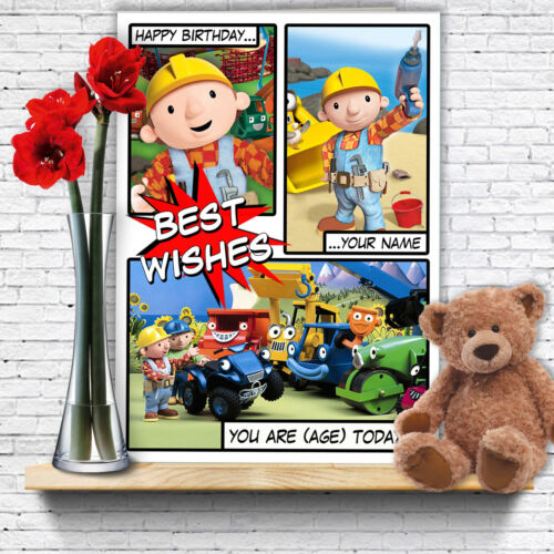 Extra Large Bob The Builder Personalised A4 Birthday Card Dad