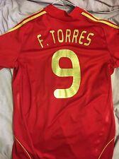 *TORRES #9 Spain Home Football Shirt Jersey Camiseta L Liverpool*