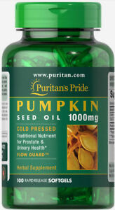 Puritan-039-s-Pride-Pumpkin-Seed-Oil-1000-mg-100-Softgels-free-shipping