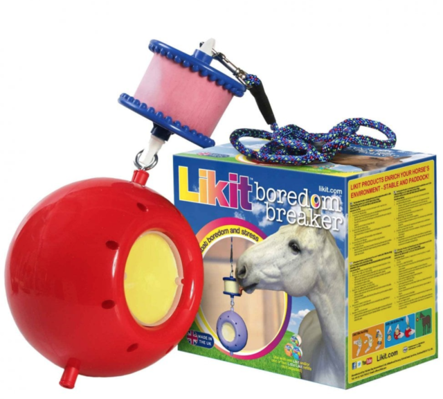 New Horse//Dog Play Ball Relieves Stress//Boredom Stable Toy Self-Inflating 20 cm