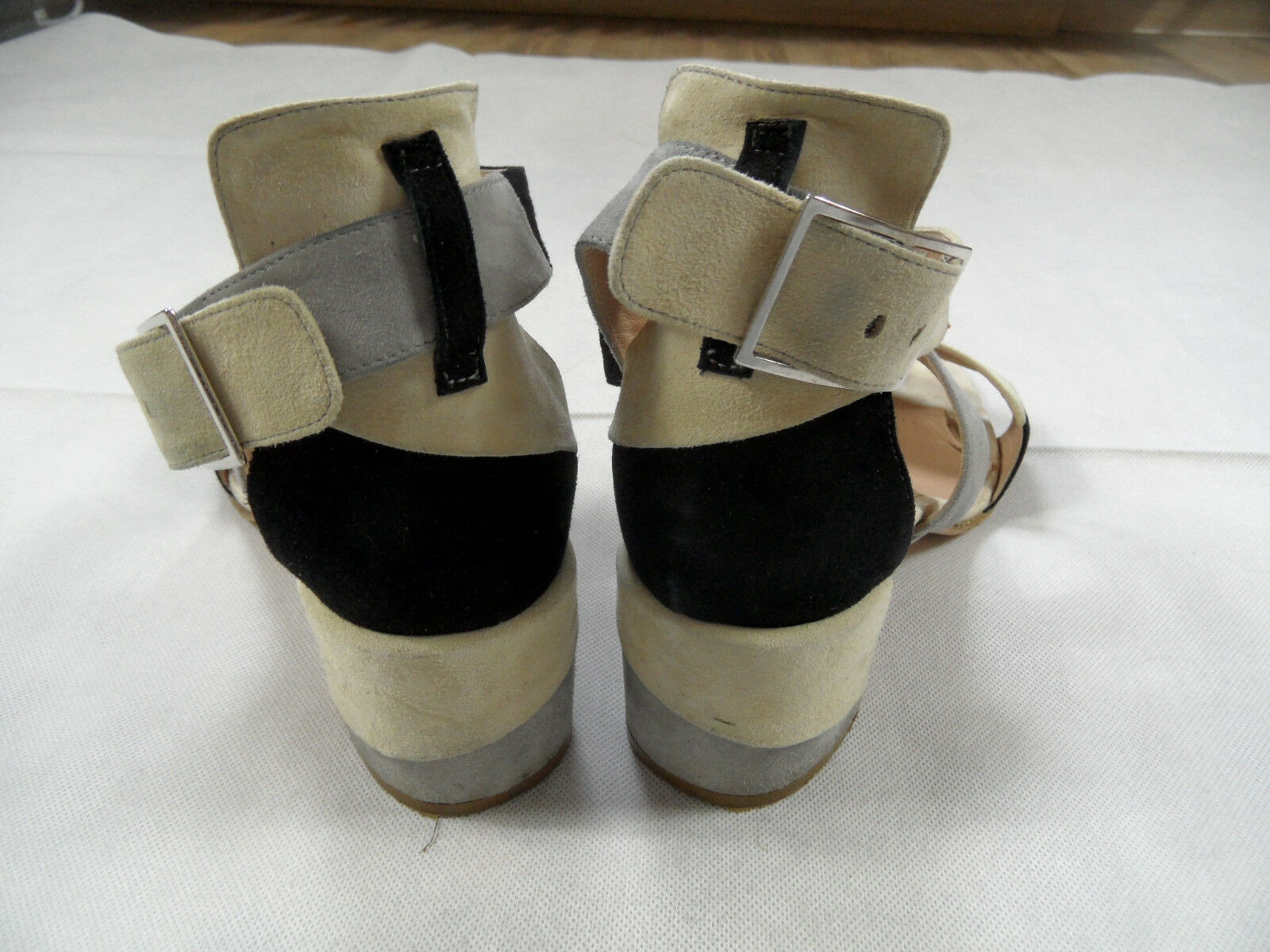 PREGO stylische Sandaletten Blockabsatz Nubukleder multicolour Gr. Gr. Gr. 41 TOP SJ718 792d17