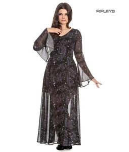 Hell Bunny Spin Doctor Goth Maxi Dress DARK SEA Mermaid Skeletons All Sizes