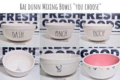 """Rae Dunn Mixing Bowl ENJOY PINCH DASH Fruit Icon /""""YOU CHOOSE/"""" 19/'"""