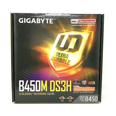 Gigabyte B450m Ds3h Am4 B450 Sata 6gb S Usb 3 1 Micro Atx Amd Ryzen Motherboard 889523014196 Ebay