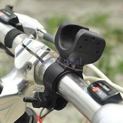 2 Stück Verstellbar Halter Halterung am Fahrrad für LED Lampe Taschenlampe