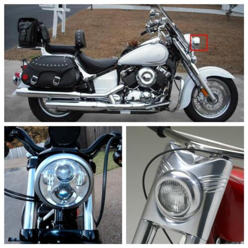 """DOT 5.75/"""" in Round 90W LED Headlight For Harley Dyna Wide Glide FXDWG//Low Rider"""