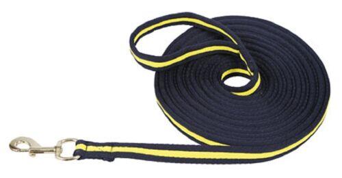 Longierleine Pferdelonge Soft Longe blau//gelb Führleine Longieren 321492