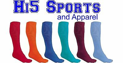 Socks Athletic Sports Over the Calf Tube Ribbed Knit Leg Cushioned Foot Russell