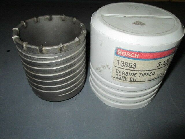 BOSCH T3863 3-1 2  CARBIDE TIPPED CORE BIT NEW UNUSED