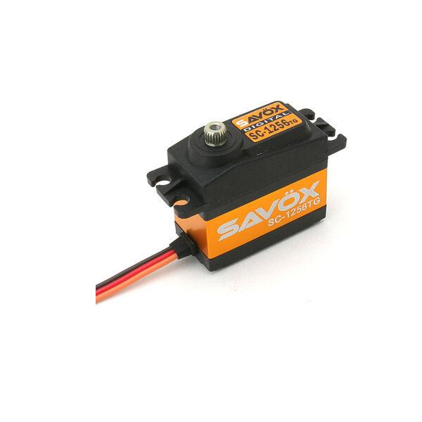 Savox Radio Control Digital alto esfuerzo De Torsión Gear Servo Coreless Titanio SC1256