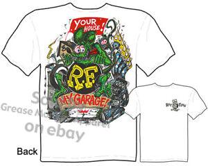 Rat-Fink-T-shirt-Ed-Big-Daddy-Roth-T-Shirts-My-Garage-Tee-Sz-M-L-XL-2XL-3XL