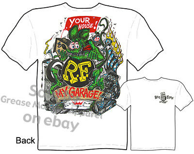 Ed Roth Logo T shirt Rat Fink Big Daddy Apparel Garage Tee Sz M L XL 2XL 3XL