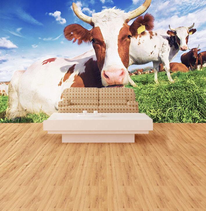3D Kuh Sonne Aalen 75 Tapete Wandgemälde Tapete Tapeten Bild Familie DE Summer