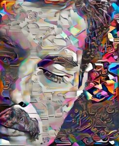Freddie Mercury Printed Wrapped Canvas Art By SHARON DESSALET - 20 X 16.