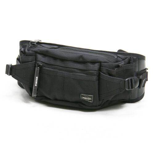 PORTER HEAT WAIST BAG 703-06979 Black Yoshida Bag Japan Import New Fast Shipping
