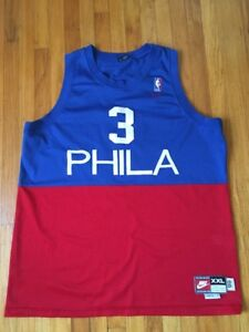 3744a284191 Philadelphia 76ers Sixers Jersey  3 Allen Iverson Nike  66 Throwback ...