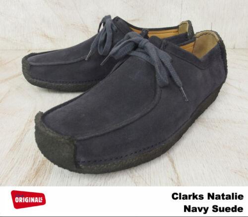 11 9,10 Clarks Original Herren Natalie Marine Wildleder Freizeitschuh UK 7,8