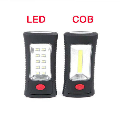 COB LED Work Light Lamp Flashlight torch Protable Hand Magnetic Hook for Camping