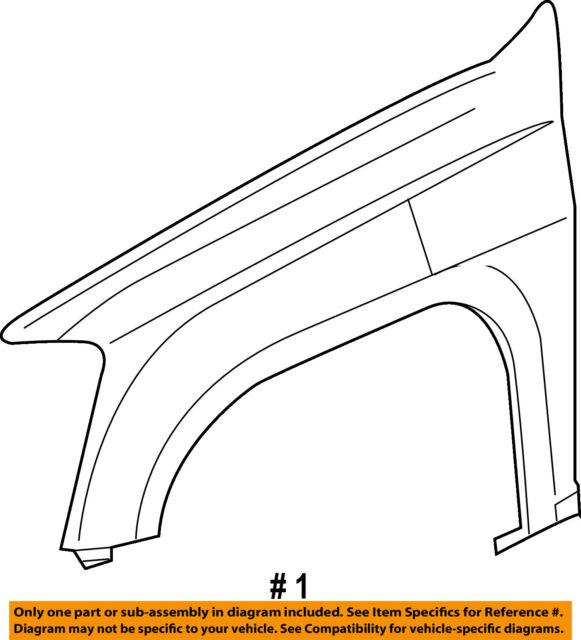 Genuine GM Parts 20821151 Driver Side Front Fender Assembly