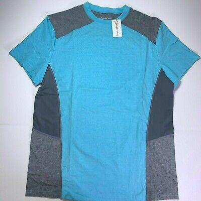 Orange Theory Mens Workout Shirt SSC Block Crew Performance Gym Gray Large NWT