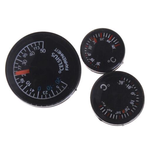 Digital mini plastic thermometer circular thermograph fahrenheit indoor outdoorT
