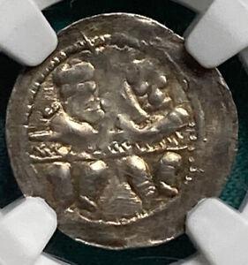1146-1173-Poland-Boleslaw-IV-the-Curly-Denar-Gum-93-NGC-AU50