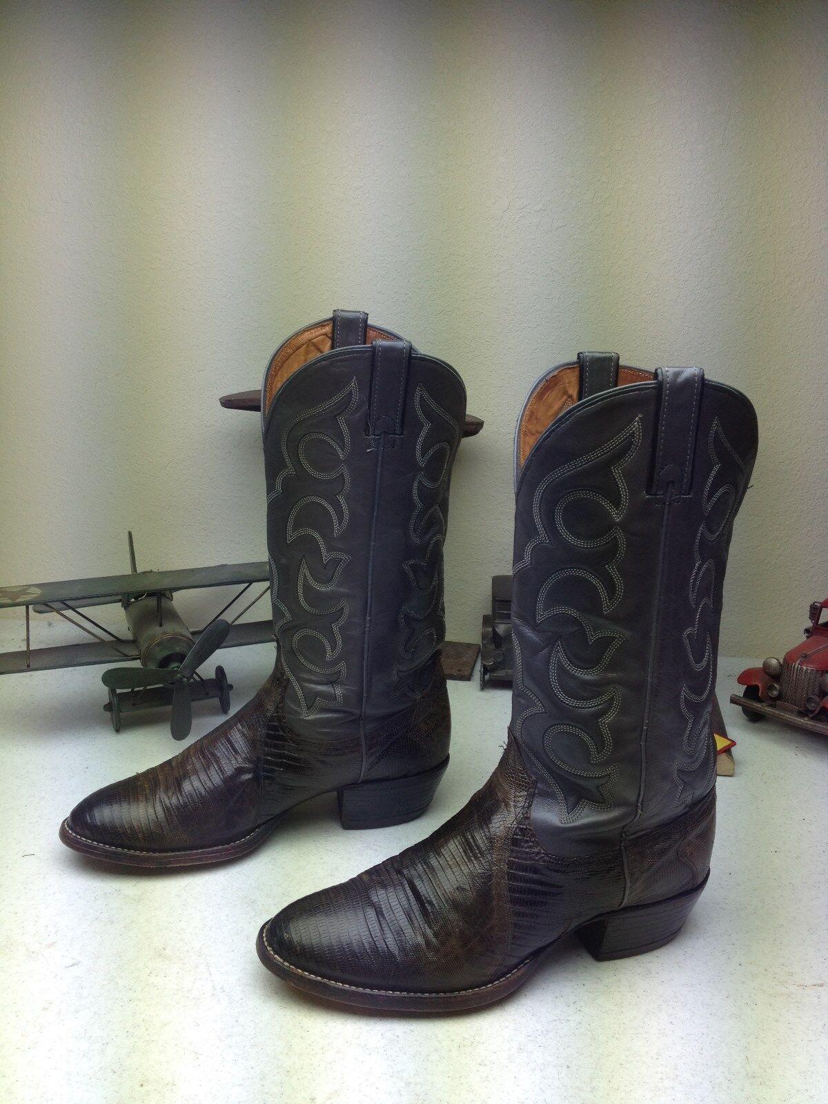 Vintage Usa Wrangler gris Lagarto De Cuero occidental Ingeniero Trail Boss botas 91)