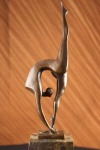 Modern-Mid-Century-Abstract-Bronze-Ballerina-Figure-Sculpture-Decor-Artwork-Sale