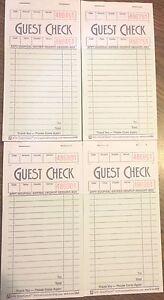 4 G3674 Invité Checks Livre Waitress Renfort 15 Ligne 50 Page Booklet Détachable Uuxbhhzz-07230433-899601113