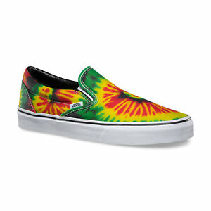 Image is loading VANS-Classic-Slip-On-Shoes-NEW-Rasta-TIE-