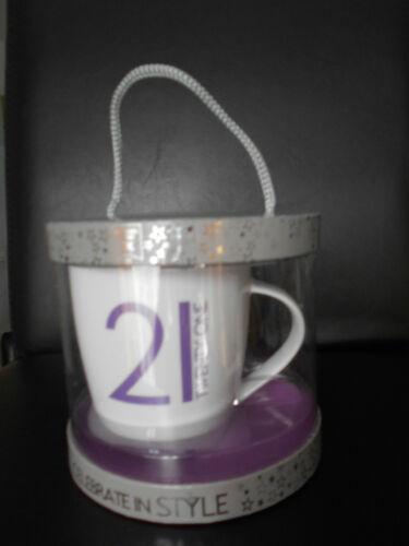 "Birthday Mug /""18th 21st Or 40th Birthday/"" Presented in a Gift Box Super New"