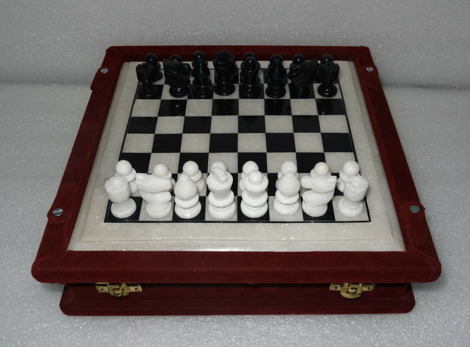9  Marble Luxury Chess Table Marble Pieces Box Play Decor Game Living Home Gifts