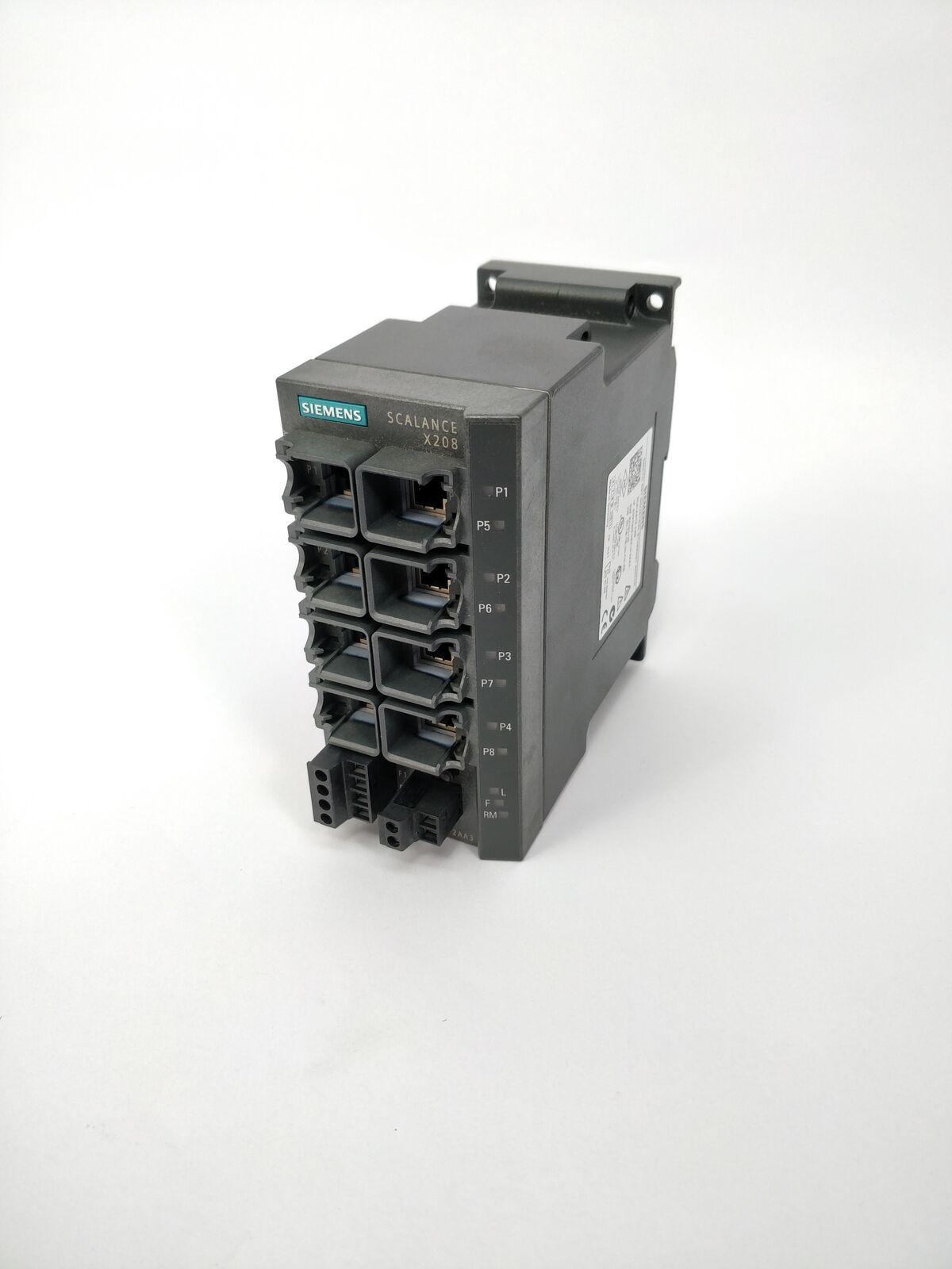 SIEMENS Used 6GK5208-0BA10-2AA3 NET INDUSTRIAL ETHER SWITCH PLC-I-634=7C32