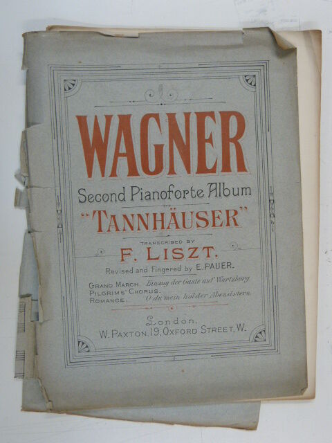 piano WAGNER TANNHAUSER transcribed liszt  , second album