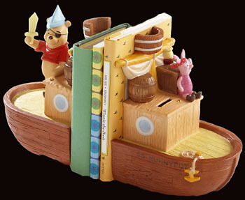 "Disney Pooh /& Friends/"" Bountiful Adventure/"" Ship Bookends POOH /& Piglet-NEW!"
