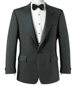 CABALLEROS-Arroyo-Tabernero-Formal-Smoking-Cena-Chaqueta-Color-Negro-Graduacion