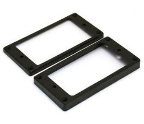 BLACK NEW Flat Bottom Humbucking Pickup Ring Set For Epiphone