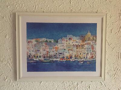 Ralf Westphal Pietrabuona Italien Aquarell Poster Kunstdruck Bild 70x50 cm
