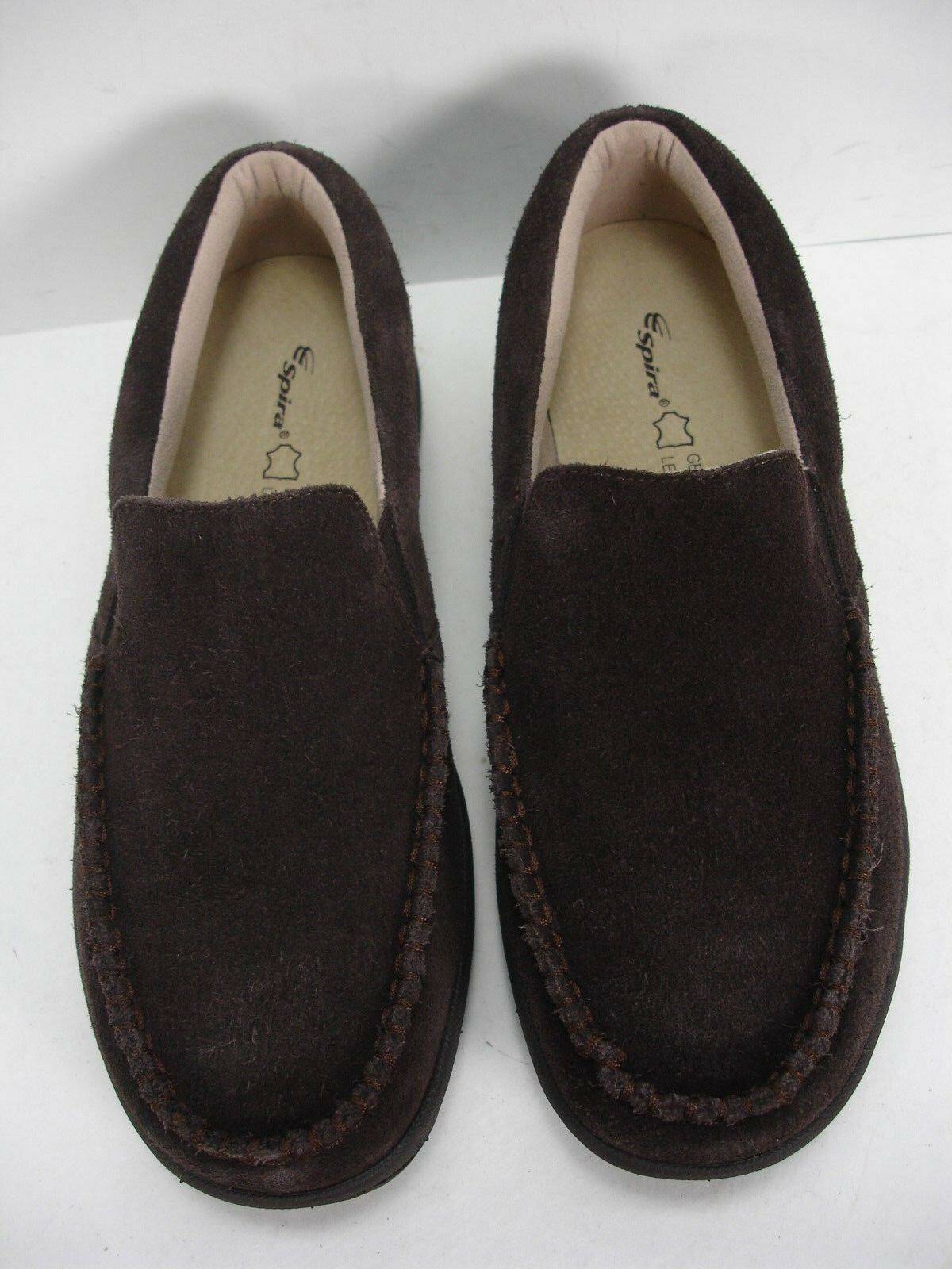 NEW SPIRA MILAN Marroneee SUEDE SLIP ON ON ON LOAFERS CASUAL scarpe uomo 9 9a0bf7